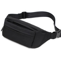 Grey Waterproof Hip Packs Sport Running Gym Waist Bag for Men