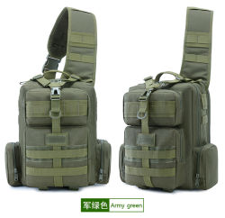 Outdoor Single Shoulder Camouflage Sports Leisure Travel Cycling Fishing Camping Tactical Military Backpack Bag (CY5869)