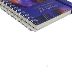 High Quality Promotional Planner Journal Digital Hardcover Back Pocket Spiral Notebook