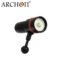 Underwater Photography / Video LED Diving Lamp with 32650 Li-ion Rechargeable Battery