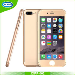3 in 1 Hard PC Case for iPhone 7 Front Clear Glass Film 360 Degree Full Body Cover Phone Case Coverage for iPhone 7 Case