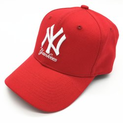 2020 Ny Three-Dimensional Embroidered Men's and Women's Sports Sun Cap Red Fashion Baseball Hat Cap