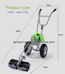 Hand Propelled Multi Function Portable Mower Lawn Garden Weeder Field Mower Grass Cutter
