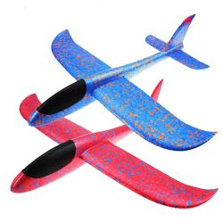 EPP Hand Launch Throwing Inertia Glider Fighter Aircraft Flying Toys Outdoor Party Sports Gift for Kids Children Trick Foam Airplane Shaped Model