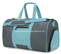 Weekend Polyester Gym Travel Duffel Sports Bag with Shoes Pocket