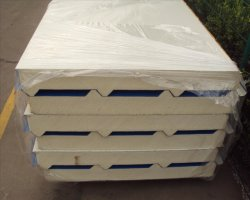 PU Sandwich Panel with Insulation Sound-Proof for H Beam Factory Office Roof
