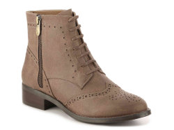 Women's Round Toe Faux Suede Stacked Heel Western Ankle Bootie (HT10021-7)
