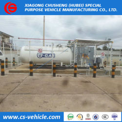 2018 Tank Skid 10tons Lp Gas Filling Station Supplier