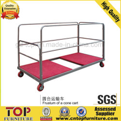 Strong Steel Round Table Trolley
