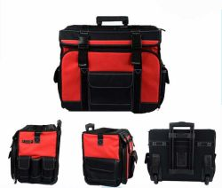 Rolling Trolley Tool Bag Durable Tool Bag with Wheels Sh-16042622