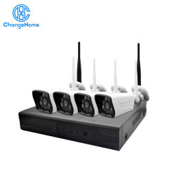 Wholesale 4CH Wireless System Outdoor 720p IP Camera WiFi NVR Kit