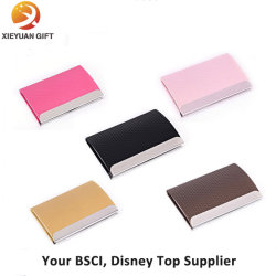 China leather business card holder leather business card holder bsci disney direct factory do custom leather metal card holder for business gifts colourmoves