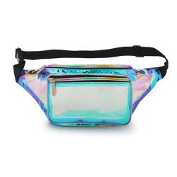 Waist Bag, Wholesale China Factory High Quality Holographic Customize Logo Fanny Pack Large Storage Running Sports Wallet Purse Waist Belt Bag for Women