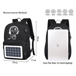 Travelling Solar Laptop Backpack Bag with Solar Panel