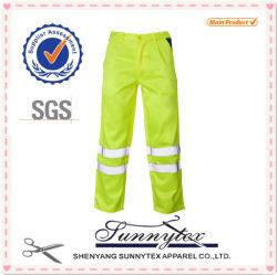 Low Price Hi Vis Orange Work Pants with Reflective Stripe Worker Safety Uniforms
