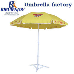 d636281a4f25d Strong Quality Outdoor Beach Parasol Sun Umbrella with Custom Logo Printing  for Market/Hotel/