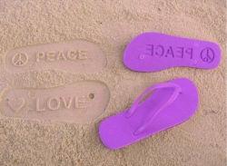 74a53fd84 EVA Die Cut Flip Flops Embossed Flip Flops