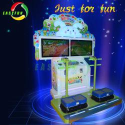 Cute Rabbit Kids Coin Operated Jumping Little Warrior Sport Machine