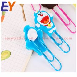 Cartoon Souvenir Bookmark Custom Logo Rubber Soft PVC Paper Clips