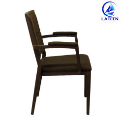 Armrest Wood Imitation Hotel Furniture Banquet Chair with High Quality