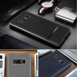 Litchi Leather TPU Phone Cases for Samsung Galaxy Note 8
