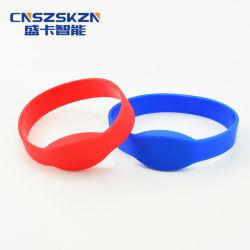 13.56MHz Custom Logo Printed Embossed Silicone NFC RFID Wristband