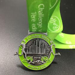 2019 Factory Custom Metel Race Marathon Sport Running Medal with Lanyard