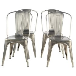 Metal Tolix Chair Vintage Industrial Indoor And Outdoor Dining Chair