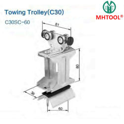 Towing Trolley C40 Used in Railway Station, Electric Tow Tractor