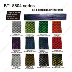 8804 Sil-A-Chrome Series SILICONE SKIRT TABS//MATERIAL