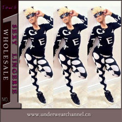 Fashion Ladies Casual Sportwear Sets of Pants and Blouse (TOSM5112)