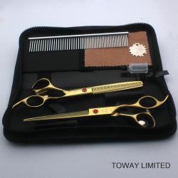 Professional Pet Grooming Hair Clipper Golden Dog Scissors