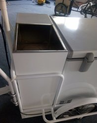 Hot Selling Front Load Tricycle Ice Cream Kiosk Freezer Van