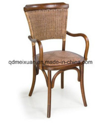Cane Makes Up The Solid Wooden Retro Leisure Restaurant Solid Wood Armchair  (M X3838