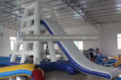 Inflatable Water Rock Climbing Wall/Tower Slide Outdoor Sports Equipment