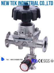Hygienic Bpe Stainless Steel Triclamp L-Pattern Diaphragm Valves