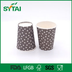 Hot Selling Single Wall Flexo Printing Star Wholesale China Hot Drink Coffee Tea Cup
