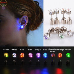 Led Light Up Earrings Lights Party Gifts Crystal Studs Flashing Blinking