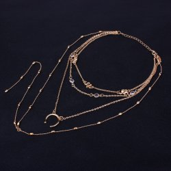 Wholesale Top Design Women Fashion Necklaces Jewelry Accessories Exaggerated Layered Necklace