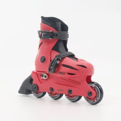 Red Adjustable Kids Inline Skates En13843: 2009