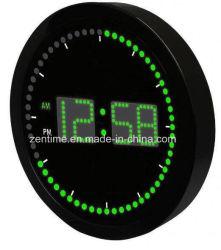 """LED Clock with Circling LED Second Indicator - Round Shape (10"""" / Blue LED)"""