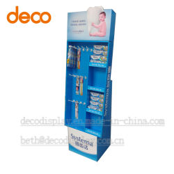 Cardboard Display Rack Store Display Shelf for Toothbrush