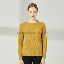 fb9d69e7cc8 2019 New Autumn Winter Pullover Women O-Neck Knitted Sweater Warm Long  Sleeve 100%