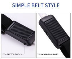 2018 Newest Multifunctional Safety Warning LED Light Belt, Outdoor Sport Cycling Indicator Colorful LED Lights
