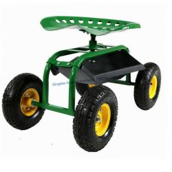 Rolling Garden Cart Work Seat Cart