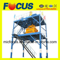 2000L Electric Concrete Mixing Machine, Js2000 Twin Shaft Concrete Mixer