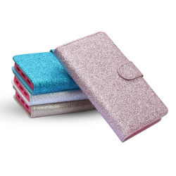 Glitter Universal PU Leather Mobile Accessories Phone Wallet Case