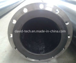 Plastic Pipeline Flange Connection Mining Sand Mud Use UHMWPE Pipe
