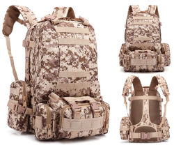 Multifunction 3D Outdoor Double Shoulder Military Tactical Gear Travel Sports Camping Army Fan Backpack Bag (CY9943)