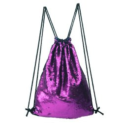 Glitter Drawstring Backpack Sequins Bag for Shopping Travel Sports Gym Yoga